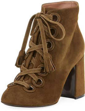 Laurence Dacade Paddle Suede Lace-Up 90mm Bootie