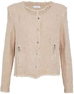 IRO Distressed Cotton-Tweed Jacket