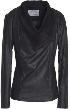 Tart Collections Draped Faux Snake-Effect Leather Jacket