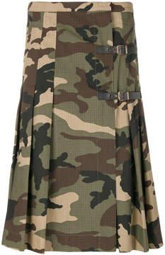 Amen camouflage print kilt