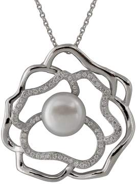 Bella Pearl Sterling Silver Swirl Pearl Pendant