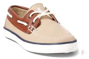 Ralph Lauren Sander Boat Shoe Khaki/Tan Leather 10.5