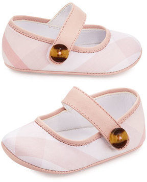 Burberry Baldwyn Check Mary Jane, Pink, Infant