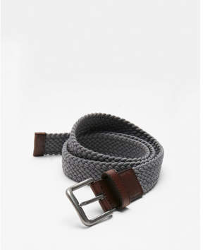 Express gray web stretch belt