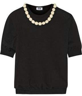 Moschino Bead-Embellished Wool And Cotton-Blend Sweater