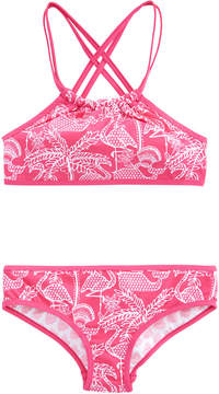Vineyard Vines Girls Reversible Flamingo Bikini