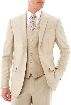 Jf J.Ferrar JF Khaki Shimmer Shark Suit Jacket - Slim Fit