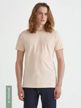 Frank and Oak Organic Cotton Crewneck T-Shirt in Cream Tan