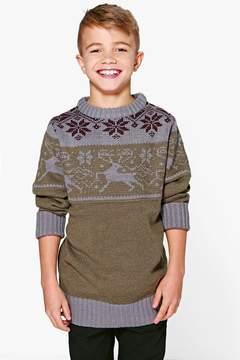 boohoo Boys Knitted Winter Jumper