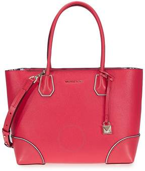 Michael Kors Mercer Gallery Medium Leather Tote- Deep Pink - ONE COLOR - STYLE