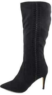 Thalia Sodi Womens Romiina Canvas Pointed Toe Knee High Fashion Boots.