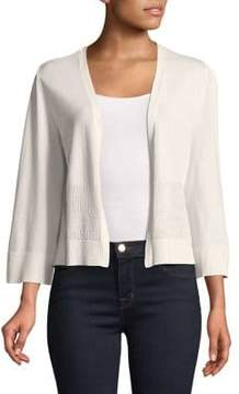 Ellen Tracy Cropped Flutter-Sleeve Cardigan