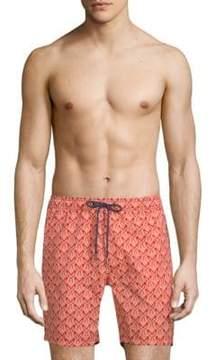 Mr.Swim Parrot-Print Swim Shorts