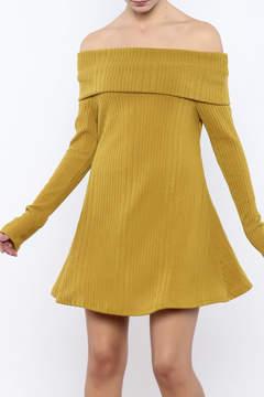 Easel Mustard Sweater Dress