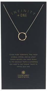 Dogeared Infinity + One, Small Crystal Halo Necklace Necklace