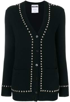 Moschino studded mid-length cardigan