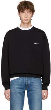 Balenciaga Black Small Logo Sweatshirt