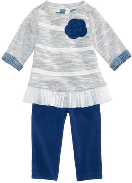 First Impressions 2-Pc. Tulle-Hem Tunic & Leggings Set, Baby Girls, Created for Macy's