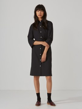 Frank and Oak Shirt-Dress in True Black