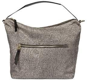 Borbonese Women's Brown Polyester Shoulder Bag.