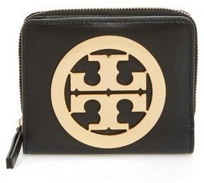 Tory Burch Women's Mini Charlie Leather Wallet - Black - BLACK - STYLE