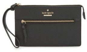 Kate Spade Women's Jackson Street - Lancey Leather Wristlet - Black - BLACK - STYLE