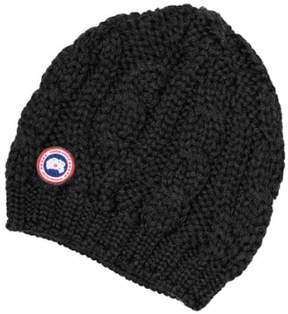 Canada Goose Women's Cable Knit Merino Wool Beanie - Black