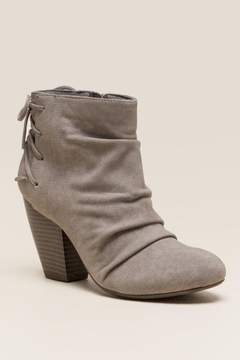 Rampage Torrey Tie Back Ankle Boot - Taupe