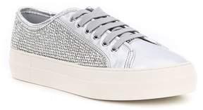 Gianni Bini Zennaa Metallic Rhinestone Embellished Sneakers