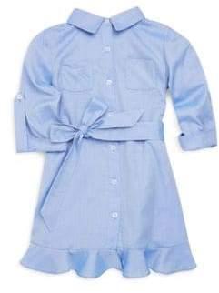 Milly Minis Toddler's, Little Girl's& Girl's Cotton Oxford Shirt Dress
