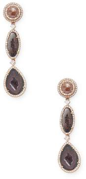 Artisan Women's Beautiful Geode Earring with Ice Diamond