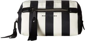 Marc Jacobs Stripes Printed Trooper Framed Big Bliz Handbags - BLACK MULTI - STYLE