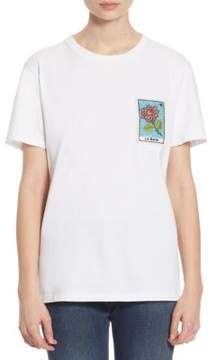 Each X Other Embroidered La Rosa Cotton Tee