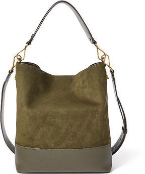 Polo Ralph Lauren Nubuck Leather Hobo Bag