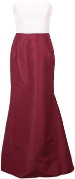 Carolina Herrera strapless fitted gown