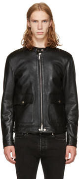 DSQUARED2 Black Leather Biker Jacket