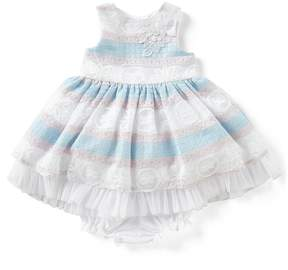 Laura Ashley London Baby Girls 12-24 Months Striped Fit-And-Flare Dress