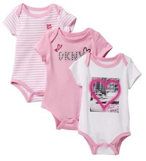 DKNY With Love Assorted Bodysuits - Set of 3 (Baby Girls 0-9M)