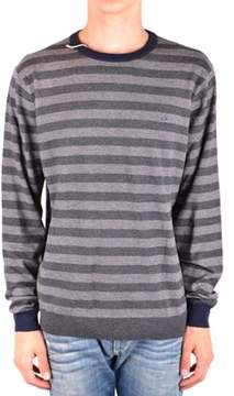 Sun 68 Men's Mcbi286180o Grey Wool Sweater.