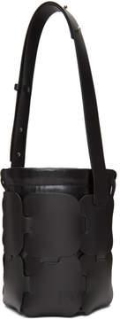 Paco Rabanne Black Small Calfskin Hobo Bag