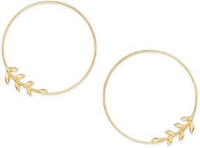 Essentials Large Silver Plated Vine Endless Wire Hoop Earrings