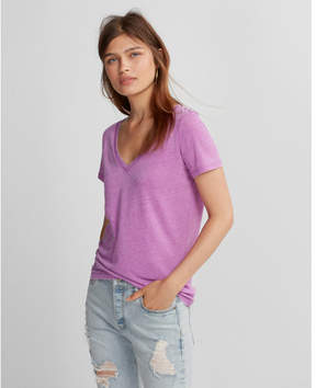 Express burnout v-neck skimming tee