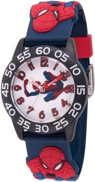 Marvel Spiderman Boys Blue Strap Watch-Wma000167