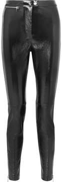 3.1 Phillip Lim Patent Textured-leather Skinny Pants - Black