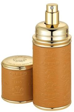 Creed Camel & Gold Trim Leather Deluxe Atomizer/ 1.7 oz.