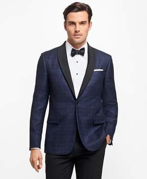 Brooks Brothers Regent Fit Plaid Tuxedo Jacket