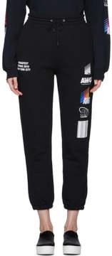 Alexander Wang SSENSE Exclusive Black Sponsored Lounge Pants