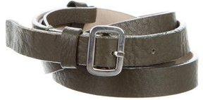 Marc Jacobs Skinny Leather Belt