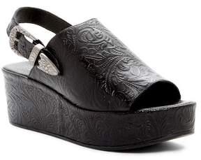 Matisse Embossed Print Slingback Leather Sandal