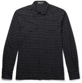 Bottega Veneta Checked Cotton-Flannel Shirt